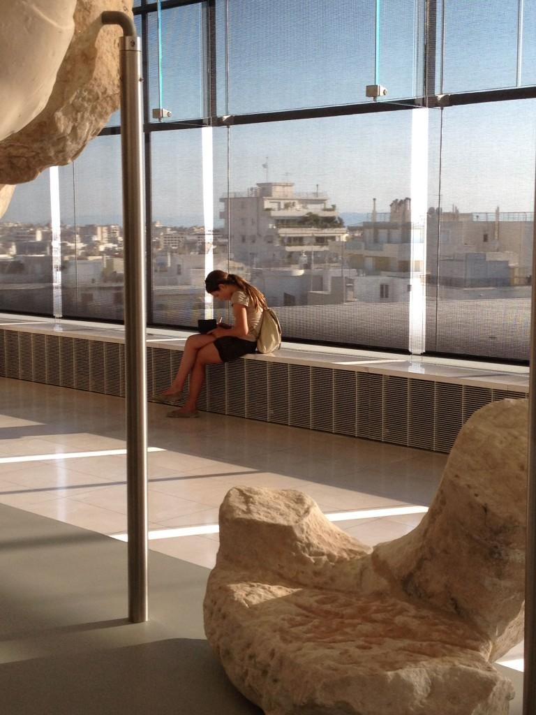 Museo dell'Acropoli, spazio dedicato alla decorazione superstite del Partenone