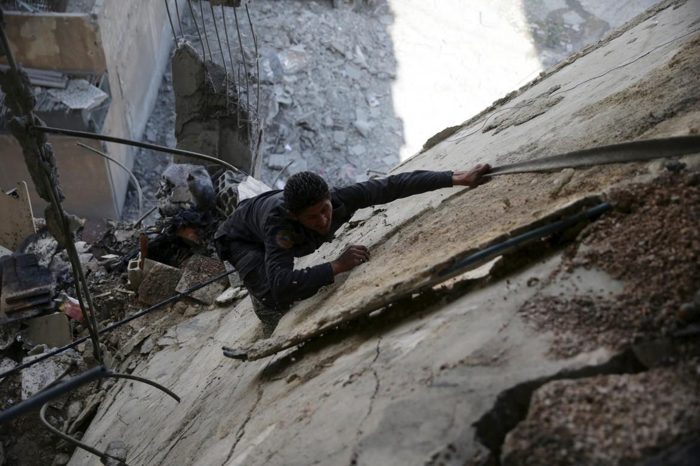Macerie della guerra a Damasco