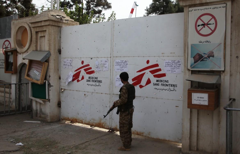 L'ingresso dell'ospedale di MSF a Kunduz