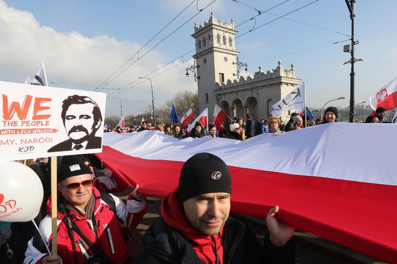La protesta a Varsavia