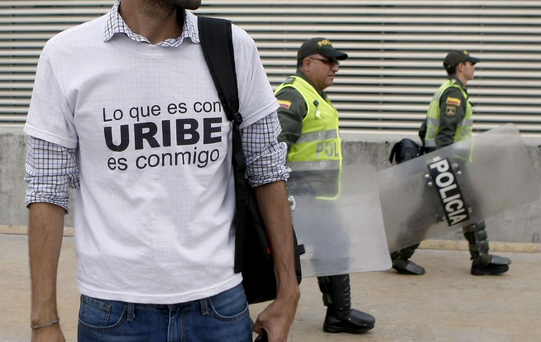 Colombia, sostenitori di Uribe