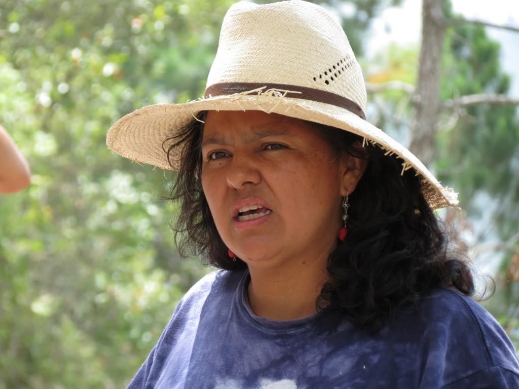 La leader indigena Berta Caceres