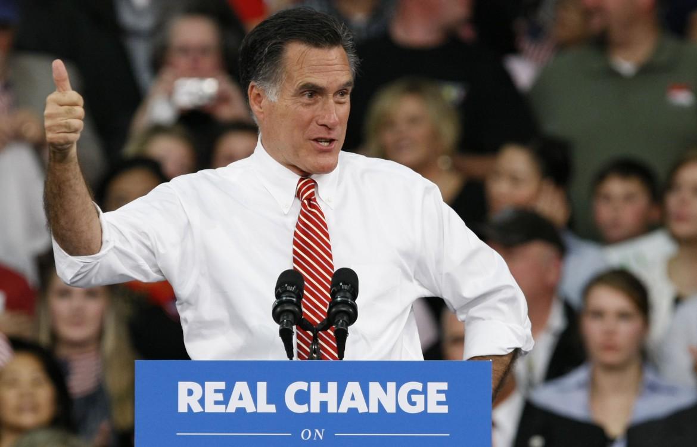 Mitt Romney in Virginia durante la sua campagna presidenziale nel 2012