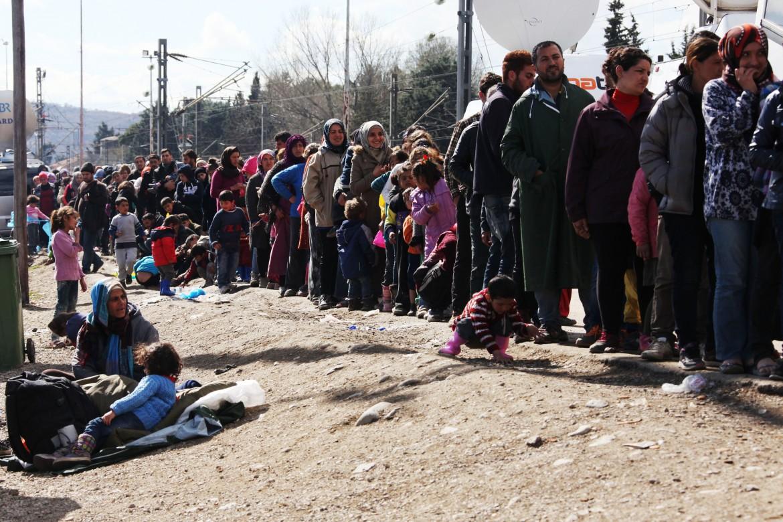 Idomeni, confine tra Grecia e Macedonia