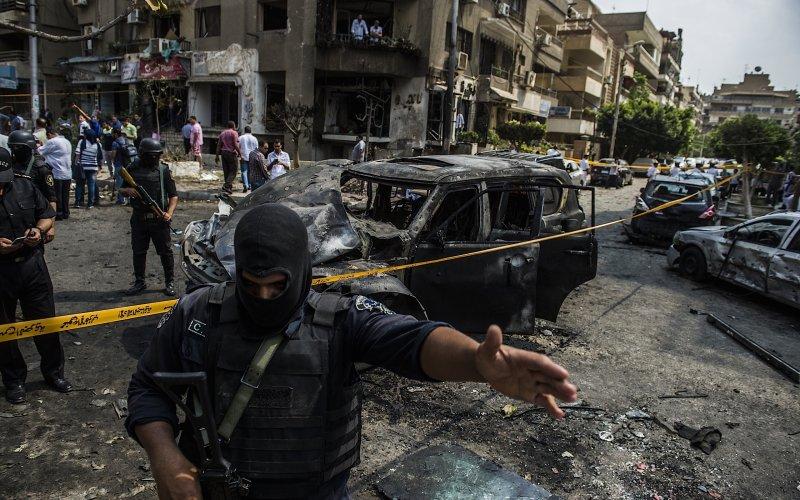 Il Cairo. Il luogo dell'attentato dello scorso giugno al procuratore capo Hisham Barakat