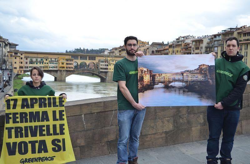 No alle trivelle con vista Ponte Vecchio
