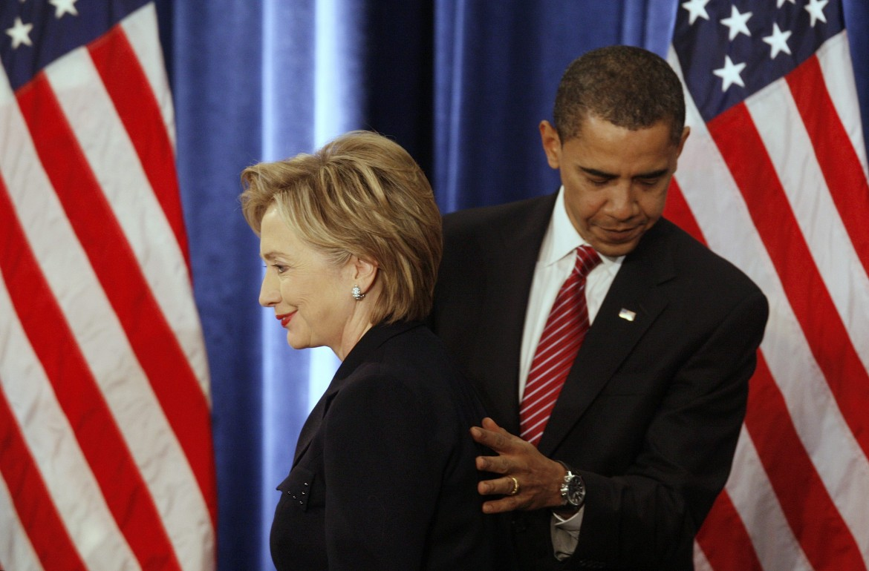Clinton e Obama