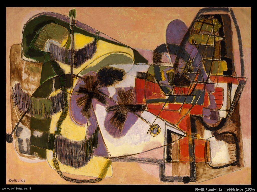 Renato Birolli, «La trebbiatrice»,1954