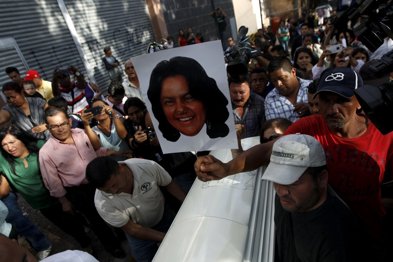 Honduras, i funerali di Berta Caceres