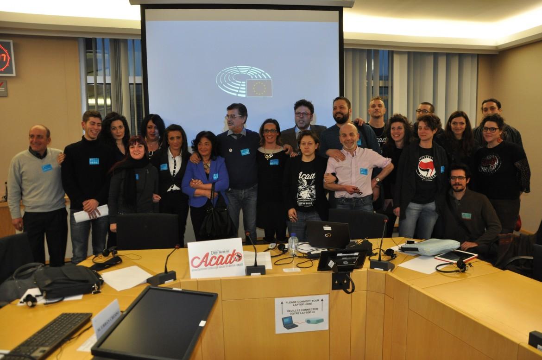 La delegazione dell'associazione Acad ieri a Bruxelles