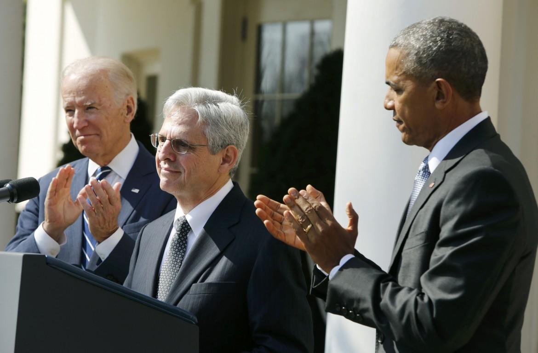 Obama con il nuovo giudice della Corte Suprema Merrick Garland