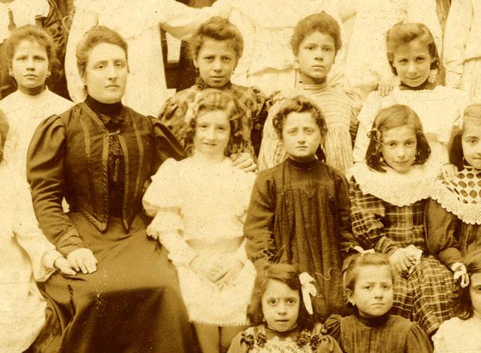 Particolare di fotografia fine XIX - inizio XX secolo della ditta Tito Pasquini