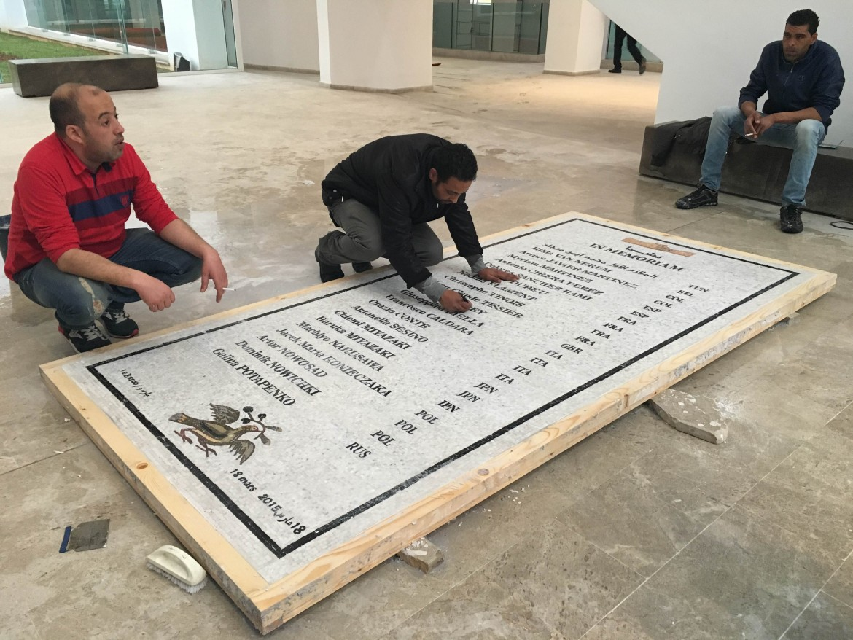 I preparativi per la commemorazione odierna della strage del Bardo del 18 marzo 2015