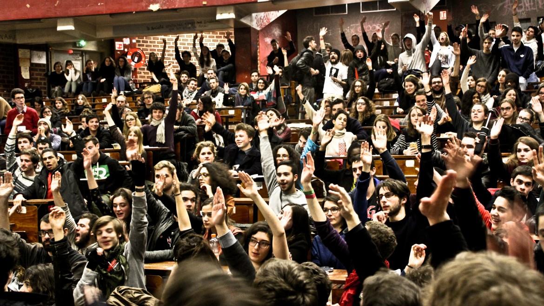 Parigi,  9 marzo 2016, Assemblea generale degli studenti