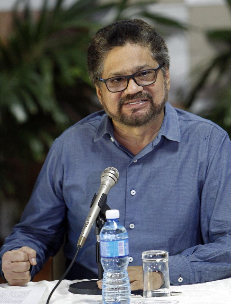 Luciano Marin, alias 'Ivan Marquez', capo delegato delle Farc all'Avana