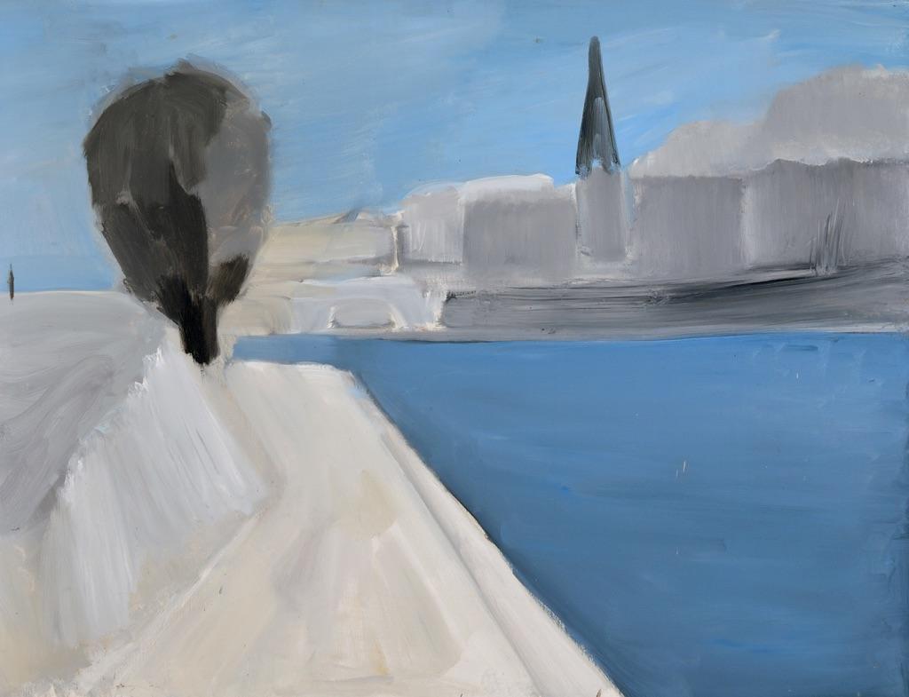 «Vue des quais de Paris», 1954