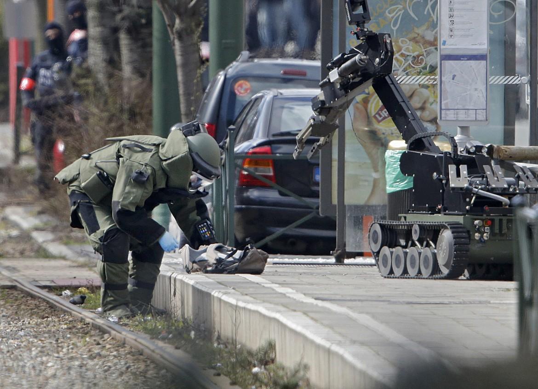 Sminatore in azione a Bruxelles
