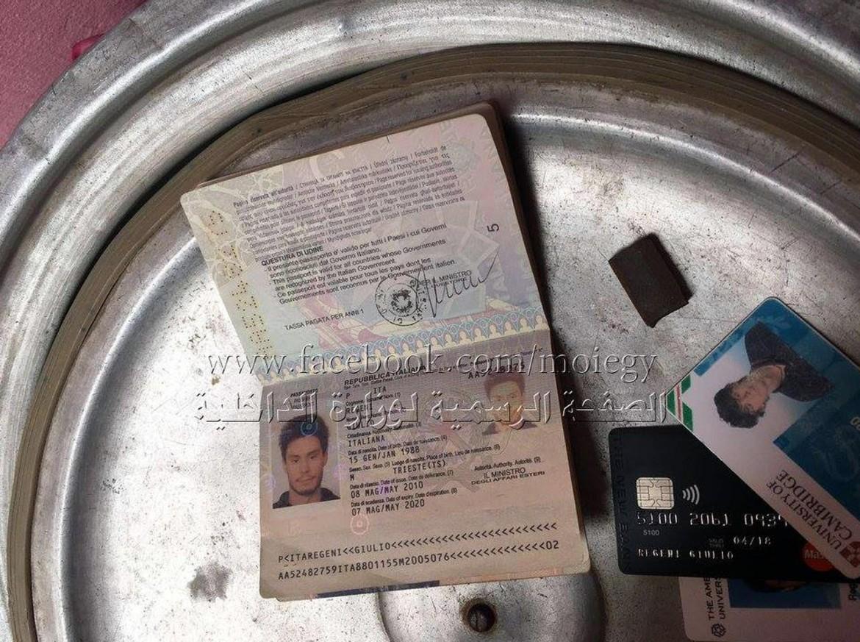 I documenti di Giulio Regeni pubblicati sulla pagina Facebook del Ministero degli Interni egiziano