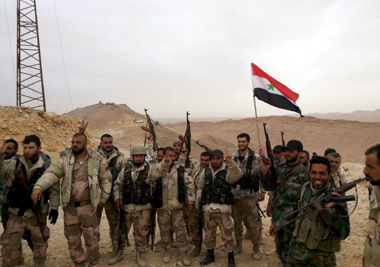 L'esercito siriano a Palmira