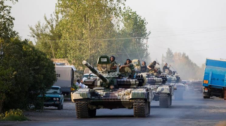Tank azeri nel Nagorno-Karabakh