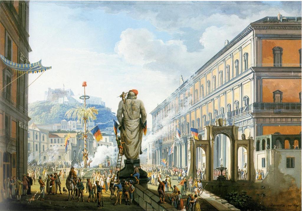 Veduta di Santa Lucia e San Martino, Napoli,1799