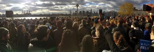 Bernie Sanders a Greenpoint Brooklyn, 8 aprile 2016