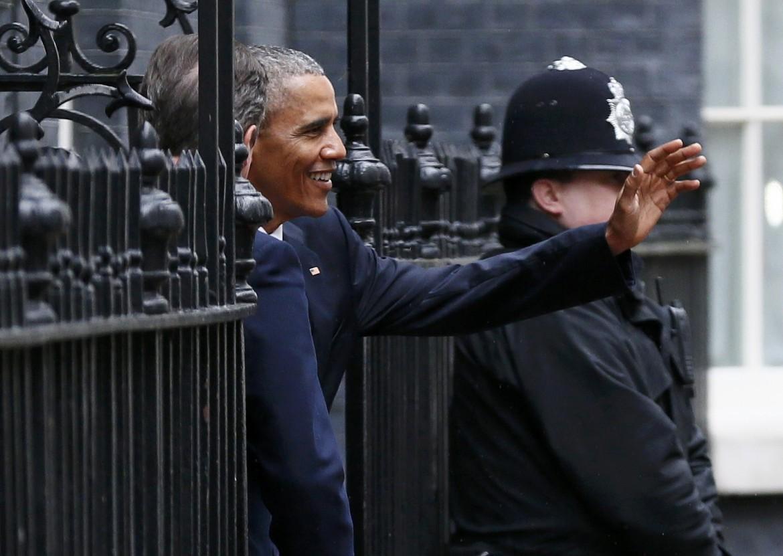 Obama a Londra a Downing Street