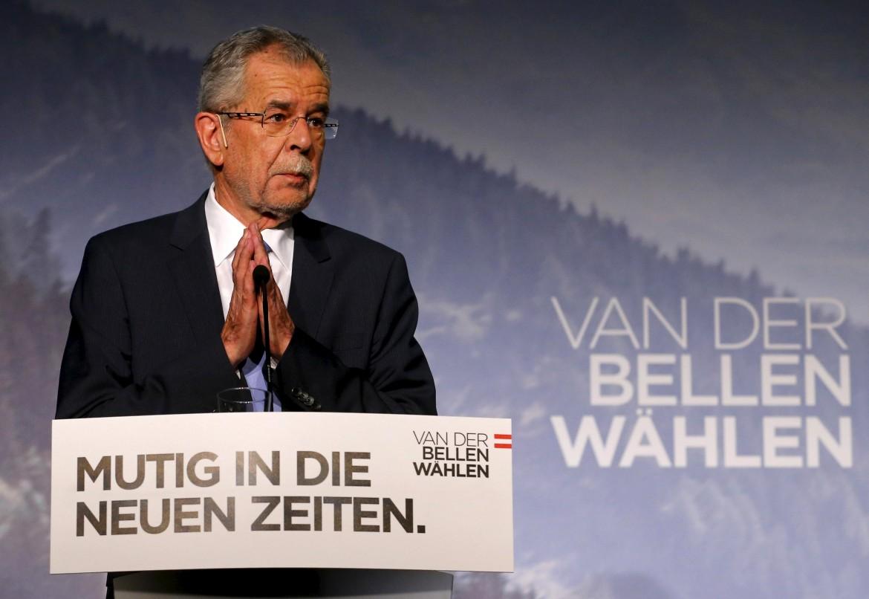 Il candidato presidente dell'Austria Alexander van der Bellen