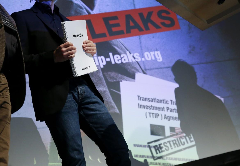 La presentazione dei documenti del Ttip pubblicati da Greenpeace