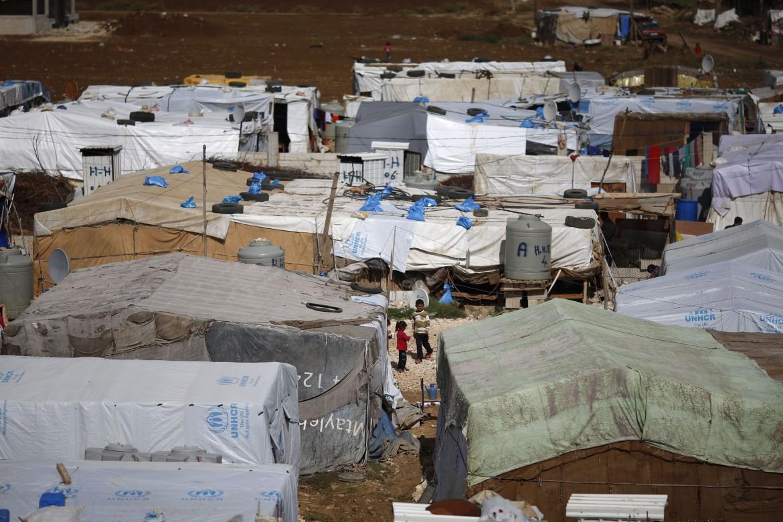 Un campo di profughi siriani in Libano