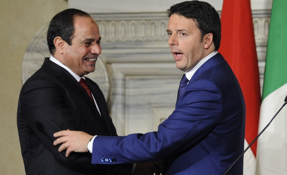 Al-Sisi e Matteo Renzi
