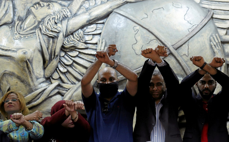 Protesta dei giornalisti egiziani