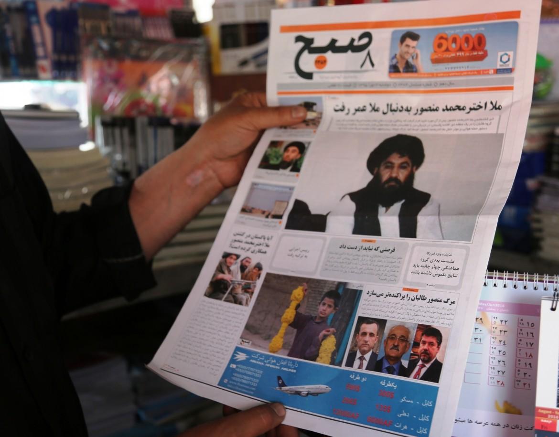 La notizia della morte del leader talebano Mansur