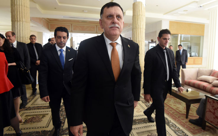 Il leader libico al Serraj
