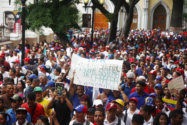 Marcia degli studenti a Caracas