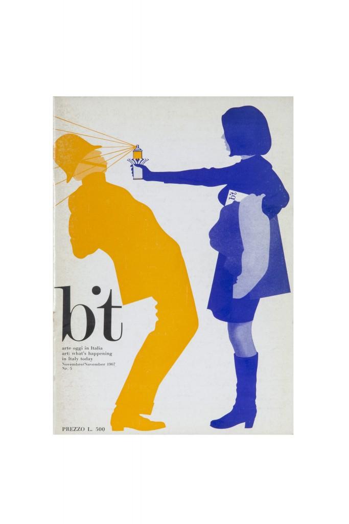 copertina di «Bit arte», n. 6, dicemebre 1967