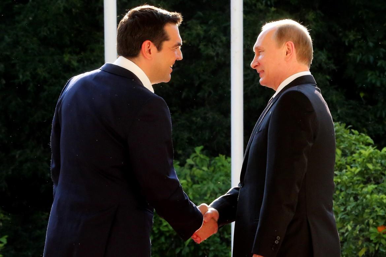 Tsipras e Putin, ieri