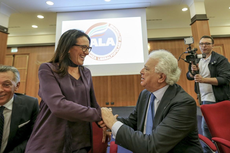 Valeria Valente, deputata Pd e candidata sindaca con Denis Verdini, leader di Ala