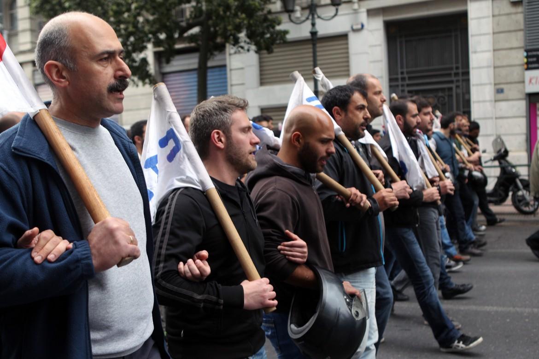 Manifestazione dei sindacati greci