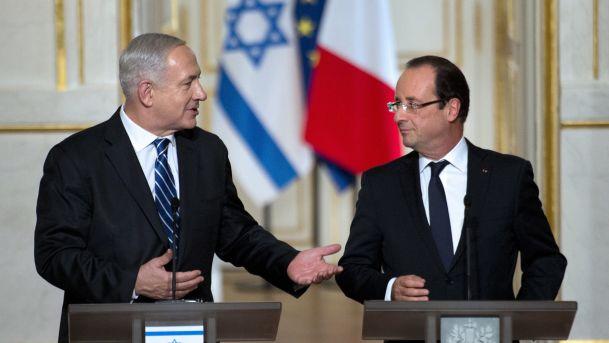 Benyamin Netanyahu e François Hollande