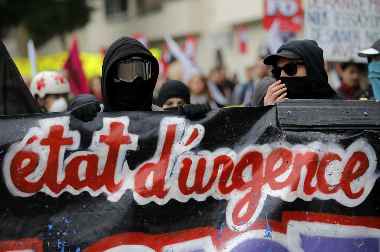 Manifestazione a Nantes contro la Loi Travail