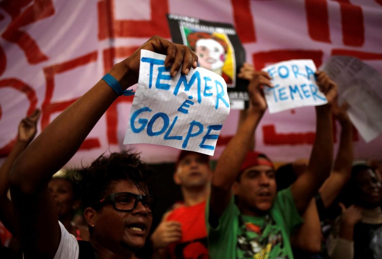 Brasile, manifestazione contro Temer