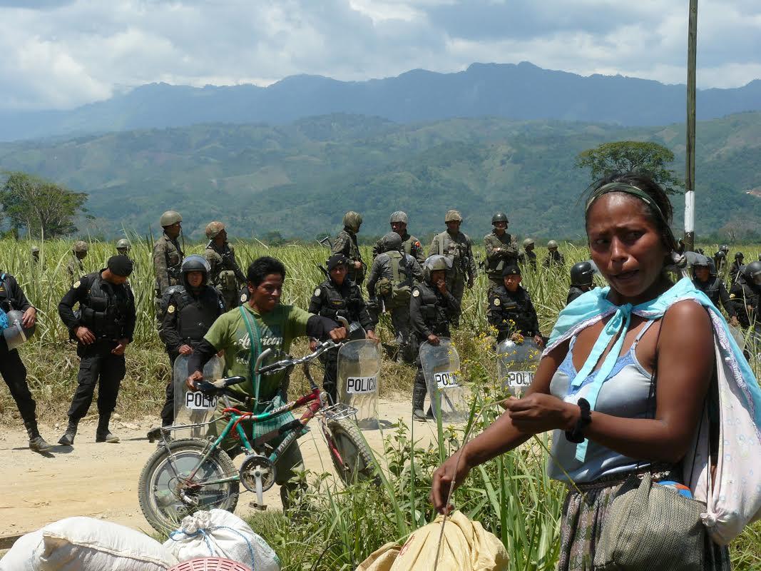 Guatemala, sgomberi nella  Polochic Valley