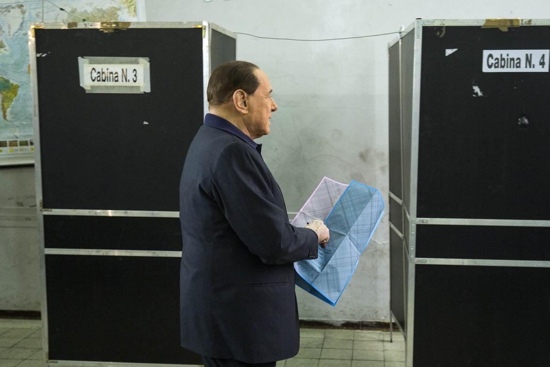 Silvio Berlusconi al seggio