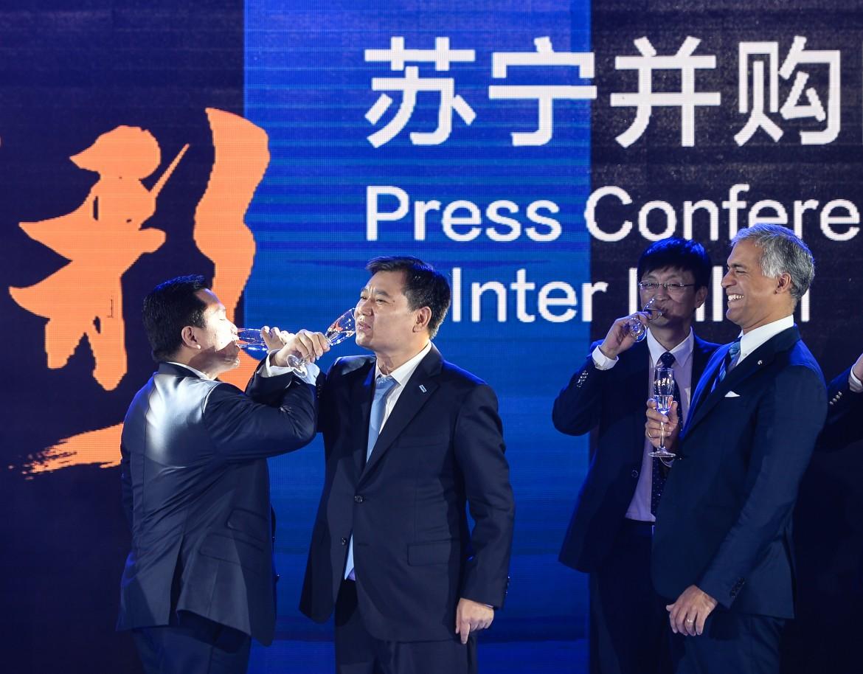 conferenza stampa annuncio passaggio di proprietà dell'Internazionale calcio