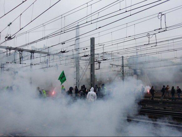 Ferrovieri Cgt bloccano la stazione di  Montparnasse