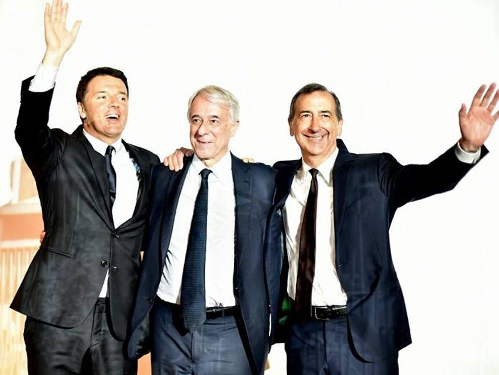 Renzi, Pisapia e Sala