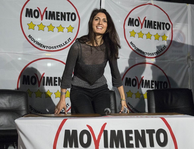 Virginia Raggi, candidata a sindaco di Roma per il Movimento Cinque Stelle. Al primo turno ha ricevuto 453 mila voti, (36%)