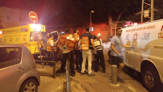 Il luogo dell'attentato a Tel Aviv