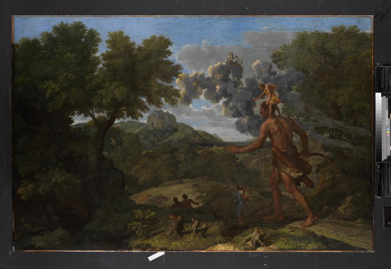 «Paysage avec Orion aveugle cherchant le soleil», part., New York, Metropolitan Museum of Art